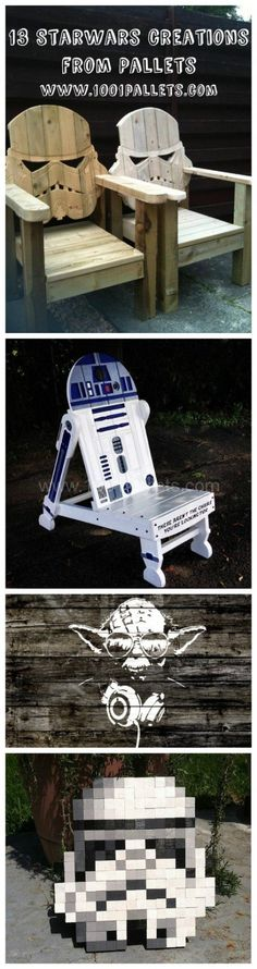 13 Starwars Creations From Recycled Pallets