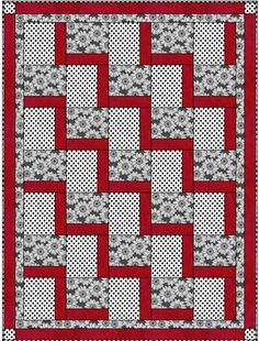 STEPPING UP Downloadable 3 Yd Quilt Pattern