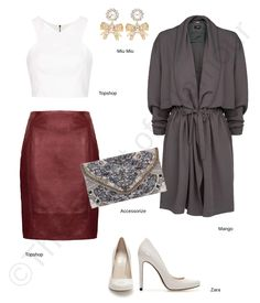Chic in Burgundy Leather Skirt