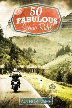 Premade book cover for nonfiction eBook • etsy.me/1ZL7TWe • Possible Genres: Nonfiction • Travel • Vacation • Motorcycle • Riding Motorcycles • Scenic Rides