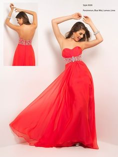 A classic red prom dress by Blush Prom