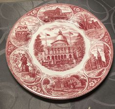 Vintage Jonroth Old English Staffordshire Ware Dinner Plate Massachusetts 1971  | eBay