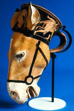Cup in the shape of a donkey's head, about 480 B.C ~ the Brygos Painter ~ Athens~Attica~Greece Ancient Egyptian Art, Ancient Aliens, Ancient Greece, Greek History, Ancient History, European History, American History, Greek Pottery, Art Antique