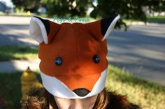 For ATL costume? Fox Winter Fleece Hat Fall Children Adult Animal by POGOandPATCH