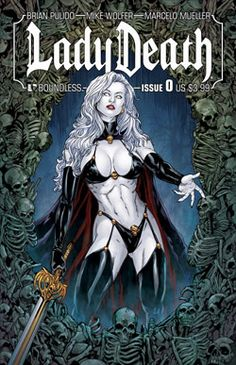Résultat d'images pour lady death marvel Comic Book Characters, Comic Book Heroes, Comic Books, Univers Marvel, Avatar Press, Top 10 Films, Story Drawing, Death Art, Comics