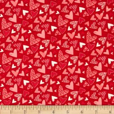 Moda Kiss Kiss Hearts Galore Lipstick from @fabricdotcom  Designed by Abi Hall for Moda, this cotton print is perfect for quilting, apparel and home decor accents. Colors include red, pink, and white.