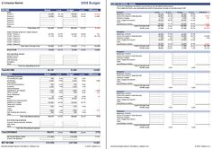 Download the Business Budget and COGS Analysis from Vertex42.com