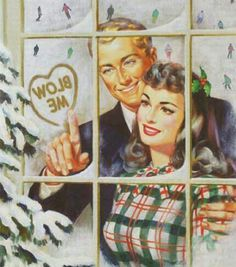Vintage Illustration man writing blow me inside heart to woman on frosted window Humor 21 Random Funny Pics & Memes for the Strange at Heart Humor Retro, Humor Vintage, Retro Funny, Vintage Comics, Funny Quotes, Funny Memes, Funny Stuff, Random Stuff, Character
