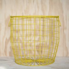 Wire Basket Large Yellow