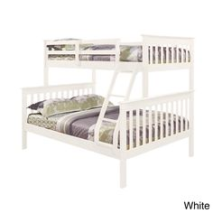 Mission Twin / Full Bunk Bed in Cappuccino | Overstock.com
