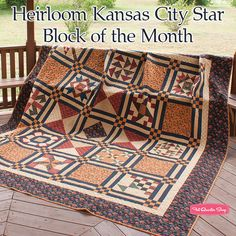 Heirloom Kansas City Star Block of the Month - Fat Quarter Shop
