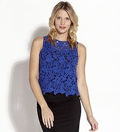 Crochet Lace Tank Top by Kane Spring Summer Fashion, Spring Outfits, Karen Kane, Lace Tank, Crochet Clothes, Crochet Lace, Summer Fashions, Style Inspiration, Clothes For Women