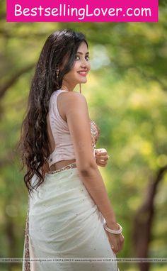 Pink Marsh Pure Silk-Crepe Ribbon Embroidered Saree with Sequin Blouse Beautiful Girl Indian, Beautiful Girl Image, Beautiful Saree, Beautiful Indian Actress, Beautiful Women, Beauty Full Girl, Beauty Women, Saree Poses, Chiffon Saree