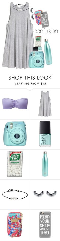 """""""how can i explain how i feel to others when i dont even know."""" by lydiamorrison ❤ liked on Polyvore featuring Uniqlo, H&M, Fuji, NARS Cosmetics, S'well, Lilly Pulitzer and Casetify"""