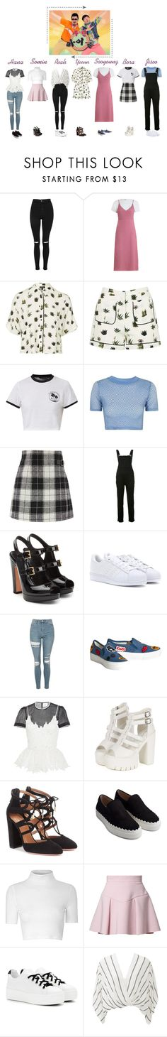 """Meow - Idol Weekly"" by meowofficial ❤ liked on Polyvore featuring Topshop, Zimmermann, Ksubi, Alexander McQueen, adidas, Alice + Olivia, Zayan The Label, Aquazzura, Chloé and Glamorous"