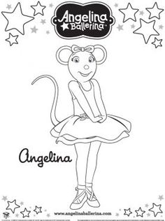 angelina ballerina coloring pages to print 1 - Angelina Ballerina Coloring Pages