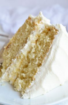 Bake a cake just like Grandma used to with this Vintage Buttermilk Vanilla Cake Recipe From Scratch. A delicate layer cake topped with homemade vanilla buttercream frosting! cake Buttermilk Vanilla Cake Recipe From Scratch Frosting Recipes, Cupcake Recipes, Baking Recipes, Cupcake Cakes, Just Desserts, Delicious Desserts, Vanilla Buttercream, Buttercream Frosting, Butter Frosting