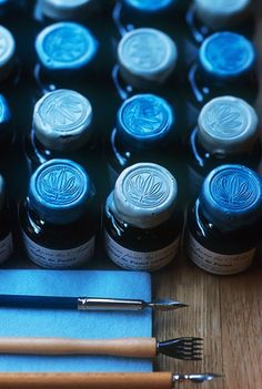 blue ink jars - stefano scata photography FRANCE - MIDI PYRENEES