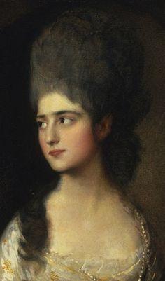 Portrait of Miss Elizabeth Linley [Mrs. Richard Brinsley Sheridan] (c.1775). Thomas Gainsborough (British, 1727-1788). Oil on canvas. Philadelphia Museum of Art.