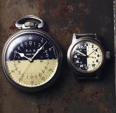 vintage cream|black ground watches