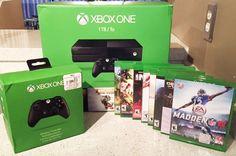 Microsoft Xbox One 1 TB Hard Drive w/ 9 Games & 2 Remotes + Xbox 360…