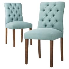 """$118.99  Dimensions: 38.0 """" H x 19.0 """" W x 22.0 """" D  Threshold™ Brookline Tufted Dining Chair - Set of 2"""