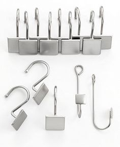 Charter Club Bath Accessories, Square Shower Curtain Rings and Extensions Hooks - Shower Curtains & Accessories - Bed & Bath - Macy's