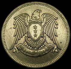 1947 SYRIA 25 Piastres SILVER Imperial EAGLE Coin in HIGH GRADE Rare Coin!