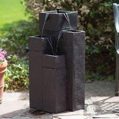 Have to have it. Smart Solar Square Solar Garden Outdoor Fountain - $179.99 @hayneedle