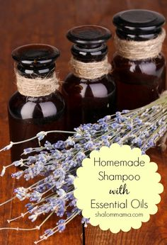 Homemade shampoo with essential oils.