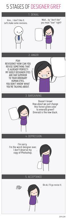 5 Stages of Designer's Grief [COMIC]