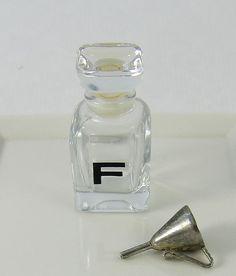 Made in France Glass Perfume Bottle Silver Perfume di MinniesFlea, $8.00