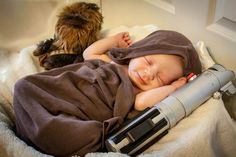 Jedi baby pic of my baby boy
