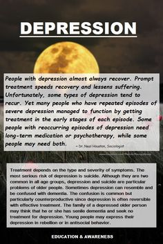Depression: Did you know? ~ Dr. Neal Houston, Sociologist (Mental Health & Life Wellness) EDUCATION & AWARENESS www.facebook.com/TheLifeTherapyGroup