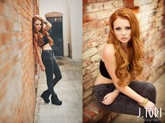 Urban senior portraits, hipster senior pictures, alley senior portraits, redhead…