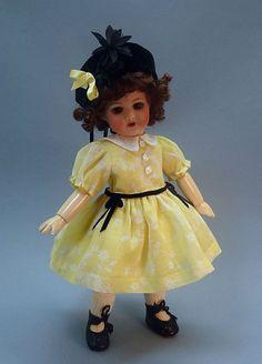 BLEUETTE Footing GL 1938 Dress and Hat - vintage materials ~Tres Belle Poupee ~