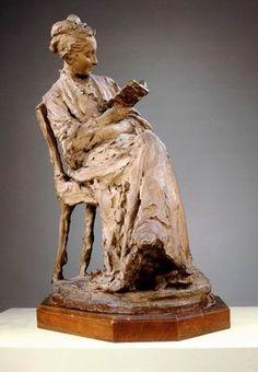 Woman Reading, 1874, terracotta, by Jules Dalou, French (1838-1902) / The Israel Museum, Jerusalem Art.