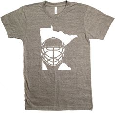 Minnesota Hockey. End of conversation. Screenprinted on American Apparel shirts. Designed and printed in Minnesota. Unisex sizes S-XXL. Click here for sizing chart. 50/50 ultra-soft cotton/poly blend;