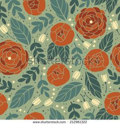 Vector seamless vintage pattern with flower. Can be used for desktop wallpaper or frame for a wall hanging or poster,for pattern fills, surface textures, web page backgrounds, textile and more.