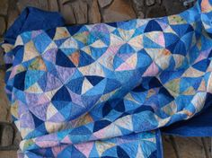 Shades of dawn  king size quilt  winding way by sharileedesigns, $395.95