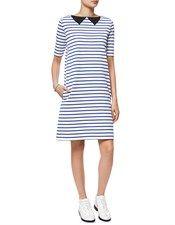 Blue Striped Cotton Dress Petit Bateau 2