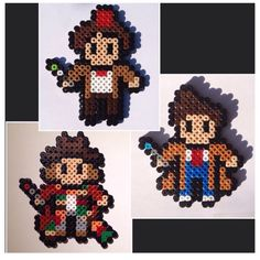 Doctor Who magnets hama beads by houseofvicness