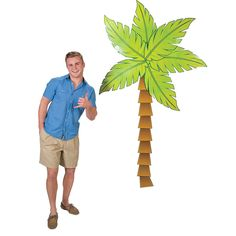 Jointed Palm Tree Cutout, $6.50 - OrientalTrading.com | I need two of these - one on each side just behind my 6ft table - tie string across and hang sign or merch w/ clothespins.