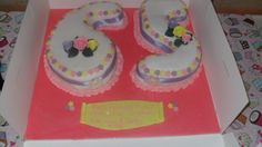 65th number cake with fondant flowers