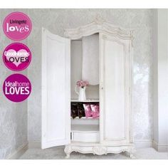 white armoire wardrobe bedroom furniture. Provencal Carved White French Armoire   Projects To Try Pinterest Armoire, Armoires And Wardrobe Bedroom Furniture