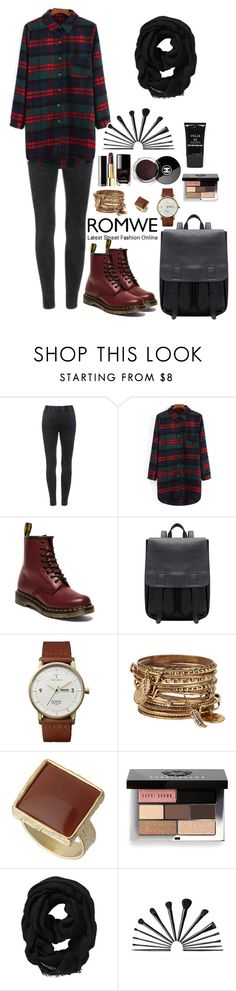 """""""Romwe 1"""" by amra-f ❤ liked on Polyvore featuring Dr. Martens, Triwa, ALDO, Dorothy Perkins, Chanel, Bobbi Brown Cosmetics, Old Navy, Stila, Fall and 1d"""