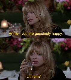 In the beginning of the film, these three women are seriously depressed. And it's the '90s, so people are still taking Lithium, the world's worst anti-depressant.   The 30 Most WTF Things About The First Wives Club