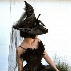 "I want this ""Victorian Gothic Witch Hat"" by TheBohemianGoddess on Etsy, $138.00"
