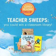 Register for the Scholastic Summer Reading Challenge (our free online reading program for schools), and enter for a chance to win a classroom library! Click through to register and learn more. #summerreading