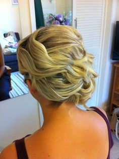 Bridesmaid hair up by Rachael white freelance stylist